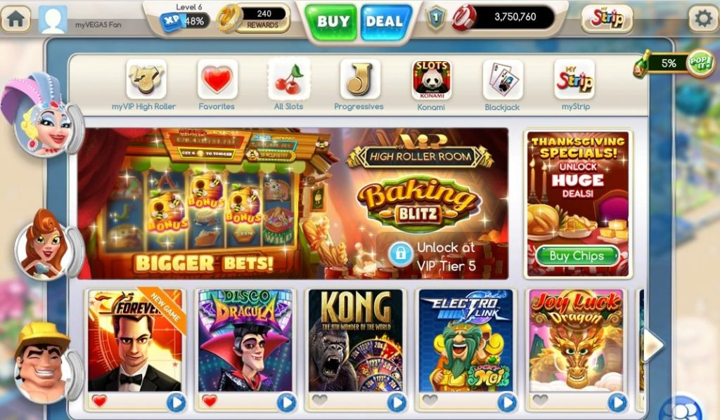 All Games of myVegas Slots App on Facebook
