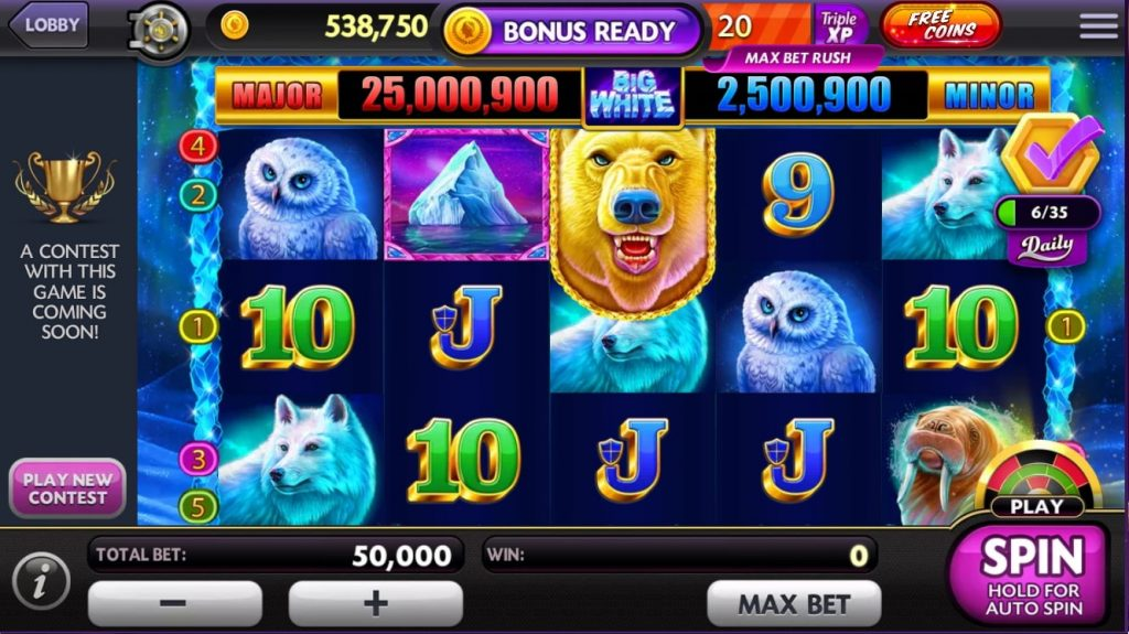 Caeasrs Casino Slot Game on Facebook