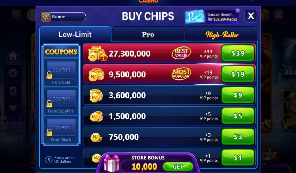 DoubleU Casino on Facebook Chips Market