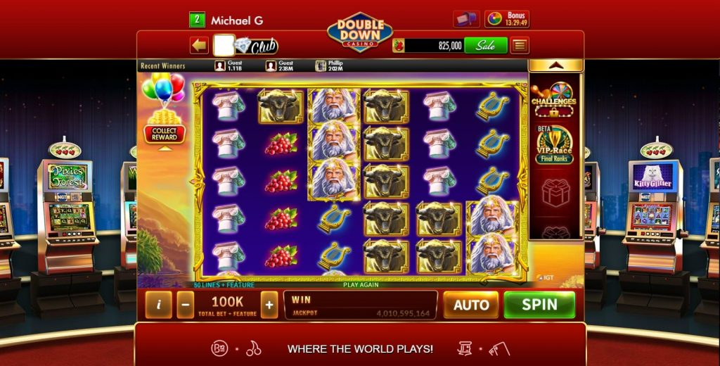 Slot Games at DoubleDown Casino on Facebook