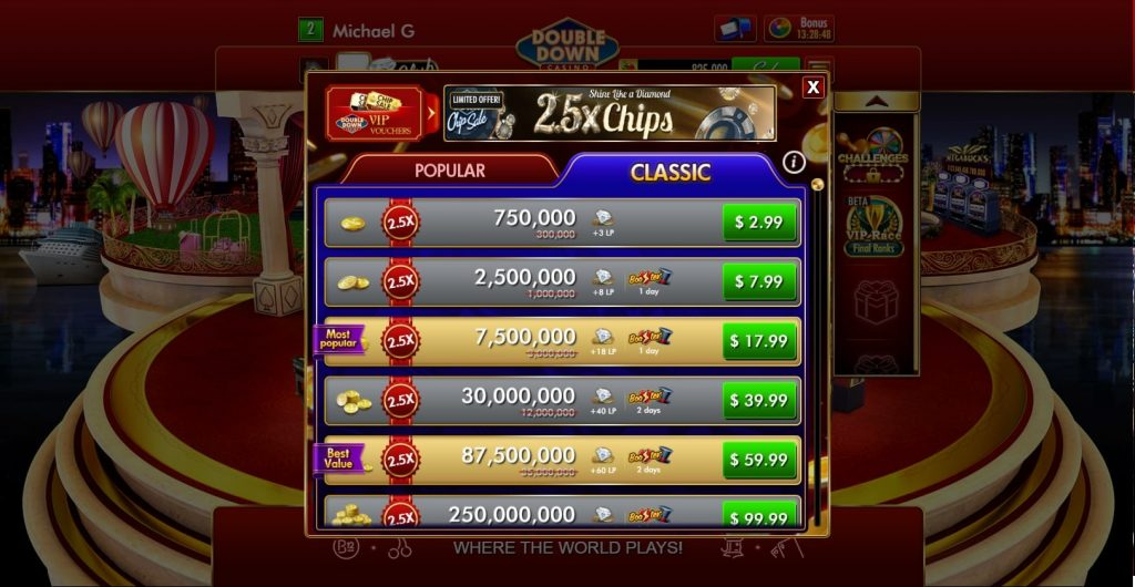 DoubleDown Casino Chips Market on Facebook