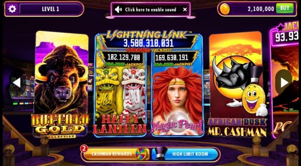 Games at Cashman Casino on Facebook