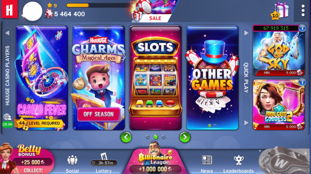 Huuuge Casino Games on Facebook