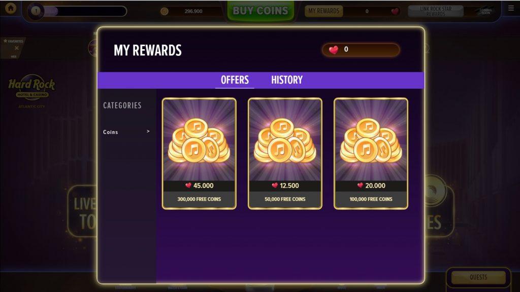 Hard Rock Social Casino Rewards
